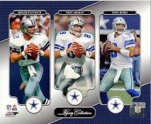 Tony Romo, Roger Staubach, Troy Aikman Dallas Cowboys Legacy SATIN 8X10 Photo