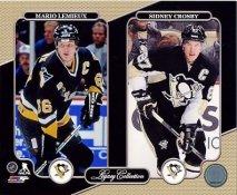 Mario Lemieux, Sidney Crosby Pittsburgh Penguins Legacy SATIN 8x10 Photo