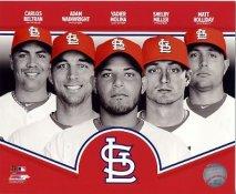 Carlos Beltran, Adam Wainwright, Shelby Miller, Yadier Molina, Matt Holliday 2013 St. Louis Cardinals SATIN 8X10 Photo