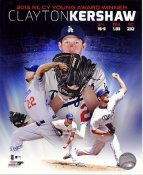Clayton Kershaw 2013 CY Young Award Winner Los Angeles Dodgers SATIN 8X10 Photo