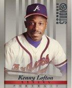 Kenny Lofton LIMITED STOCK RARE DonRuss Studio Atlanta Braves 8x10 Photo