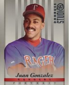 Juan Gonzalez LIMITED STOCK RARE DonRuss Studio Texas Rangers 8x10 Photo
