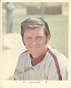 Chris Short Original Stadium Souvenir With Stamped Signature Phillies 1971 Arco MLB 8X10 Photo