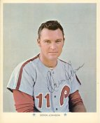 Deron Johnson Original Stadium Souvenir With Stamped Signature Phillies 1971 Arco MLB 8X10 Photo