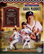 Greg Maddux Hall Of Fame Class of 2014 Atlanta Braves SATIN 8X10 Photo