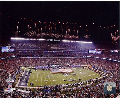 N2  Metlife Stadium Super Bowl 48 Seahawks / Broncos SATIN 8X10 Photo