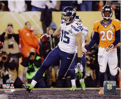 Jermaine Kearse Super Bowl 48 TD Seattle Seahawks SATIN 8X10 Photo