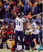 Kam Chancellor & Earl Thomas Celebrate Interception Super Bowl 48 TD Seattle Seahawks SATIN 8X10 Photo