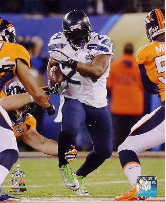 Marshawn Lynch Super Bowl 48 Seattle Seahawks SATIN 8X10 Photo