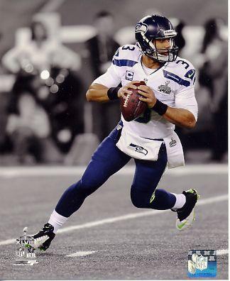 Russell Wilson Super Bowl 48 Spotlight Seattle Seahawks SATIN 8X10 Photo