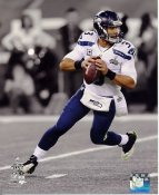 Russell Wilson Super Bowl 48 Spotlight Seattle Seahawks SATIN 8X10 Photo