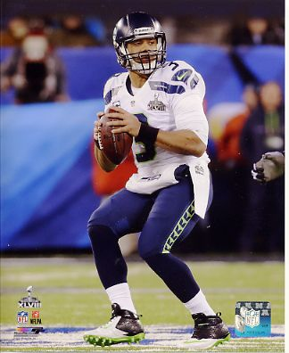 Russell Wilson Super Bowl 48 Seattle Seahawks SATIN 8X10 Photo