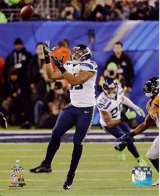 Malcolm Smith Super Bowl 48 Interception Seattle Seahawks SATIN 8X10 Photo