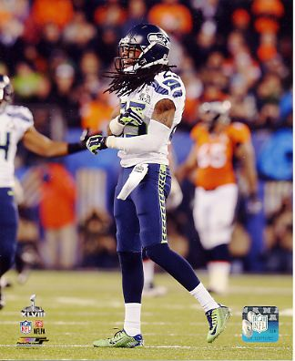 Richard Sherman Super Bowl 48 Seattle Seahawks SATIN 8X10 Photo