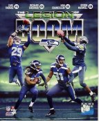 Byron Maxwell, Earl Thomas, Richard Sherman & Kam Chancellor Legion Of Boom Super Bowl 48 Seattle Seahawks SATIN 8X10 Photo