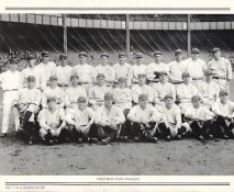 Yankees 1923 New York Team Photo Daily News with Headlines On Back / Glossy Paperstock Includes Top Load Holder 8X10 Photo