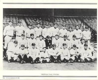 Yankees 1928 New York Team Photo Daily News with Headlines On Back / Glossy Paperstock Includes Top Load Holder 8X10 Photo