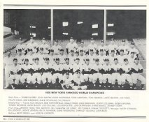 Yankees 1950 World Champions New York Team Photo Daily News with Headlines On Back / Glossy Paperstock Includes Top Load Holder  8X10 Photo