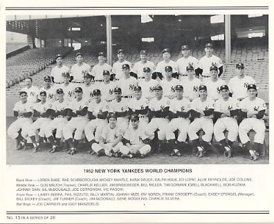 Yankees 1952 World Champions New York Team Photo Daily News with Headlines On Back / Glossy Paperstock Includes Top Load Holder   8X10 Photo
