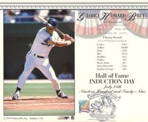 George Brett LIMITED STOCK H.O.F Induction Day Kansas City Royals Glossy Card Stock With Stamp & Postmark From Cooperstown 8X10 Photo