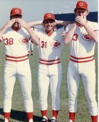 John Franco, Ron Robinson & Unknown ( Jay Tibbs ?) LIMITED STOCK Cincinnati Reds 8X10 Photo