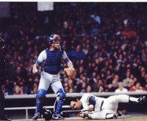 Reggie Jackson & Steve Yeager 1981 World Series New York Yankees/ LA Dodgers SUPER SALE 8X10 Photo