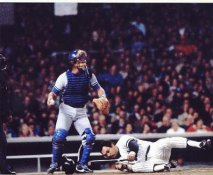 Reggie Jackson & Steve Yeager 1981 World Series Yankees / LA Dodgers LIMITED STOCK 8X10 Photo