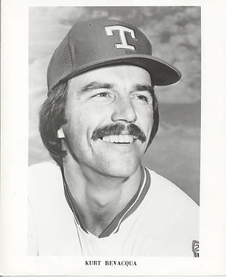 Kurt Bevacqua Team Issue Photo Texas Rangers 8x10 Photo