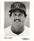 Greg Harris Team Issue Photo Texas Rangers 8x10 Photo
