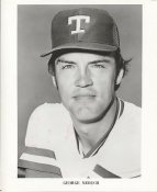 George Medich Team Issue Photo Texas Rangers 8x10 Photo