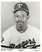 Mickey Rivers Team Issue Photo Texas Rangers 8x10 Photo