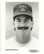 Geno Petralli Team Issue Photo Texas Rangers 8x10 Photo