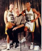 Chris Mullin, Reggie Miller & Larry Bird Indiana Pacers 8X10 Photo LIMITED STOCK