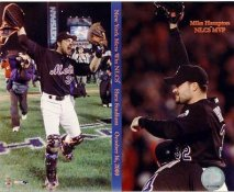 Mike Hampton & Mike Piazza Win NLCS 2000 LIMITED STOCK New York Mets 8x10 Photo