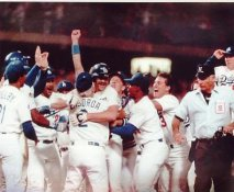 Tommy LaSorda, Kirk Gibson 1988 World Series Home Run LIMITED STOCK Los Angeles Dodgers 8X10 Photo