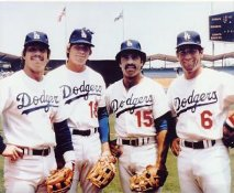 Ron Cey, Bill Russell, Davey Lopes, Steve Garvey LIMITED STOCK Los Angeles Dodgers 8X10 Photo