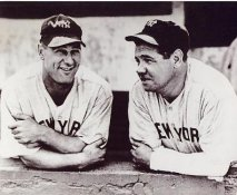 Babe Ruth and Lou Gehrig LIMITED STOCK New York Yankees 8X10 Photo