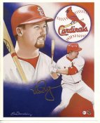 Mark McGwire LIMITED STOCK Collectible Card St. Louis Cardinals 8X10 Photo