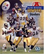 Pittsburgh Steelers 2004 Team Photo Tommy Maddox, Kendrell Bell, Hines Ward, Ben Roethlisberger, Jerome Bettis LIMITED STOCK 8x10 Photo