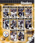 Pittsburgh Steelers 2006 Team Photo Hines Ward, Ben Roethlisberger, Troy Polamalu, Heath Miller, Jeff Reed LIMITED STOCK 8x10 Photo