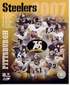 Pittsburgh Steelers 2007 Team Photo Willie Parker, Hines Ward, Ben Roethlisberger, Alan Faneca, Santonio Holmes LIMITED STOCK 8x10 Photo