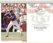 Andre Dawson LIMITED STOCK  Induction Day Cooperstown July 25th, 2010 Glossy Card Stock 8X10 Photo