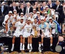 Spurs 2014 NBA Finals Champions Celebrate San Antonio Spurs SATIN 8X10 Photo LIMITED STOCK