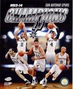 Spurs 2014 NBA Finals Champions San Antonio Spurs SATIN 8X10 Photo LIMITED STOCK
