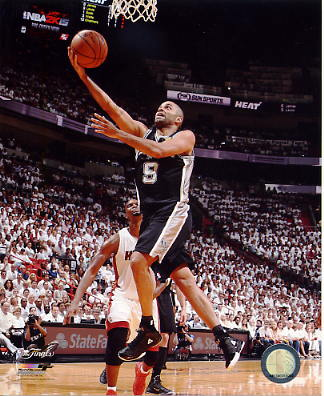 Tony Parker 2014 NBA Finals Game 3 San Antonio Spurs SATIN 8X10 Photo LIMITED STOCK