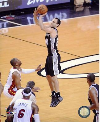 Manu Ginobili 2014 Finals Game 3 San Antonio Spurs SATIN 8X10 Photo LIMITED STOCK