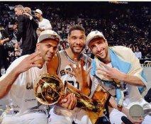 Tony Parker, Tim Duncan & Manu Ginobili 2014 NBA Finals Champions San Antonio Spurs SATIN 8X10 Photo LIMITED STOCK
