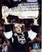 Dustin Brown w/ Stanley Cup 2014 Game 5 Los Angeles Kings SATIN 8x10 Photo