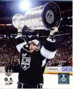 Jonathan Quick w/ Stanley Cup 2014 Game 5 Los Angeles Kings SATIN 8x10 Photo