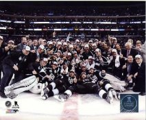 Kings 2014 Stanley Cup Champions Celebration on Ice Los Angeles Kings SATIN 8x10 Photo